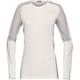 Norrøna Bitihorn Wool Longsleeve Shirt Women grey/white